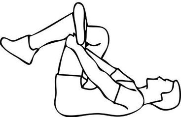 les étirements du dos, des jambes, ...